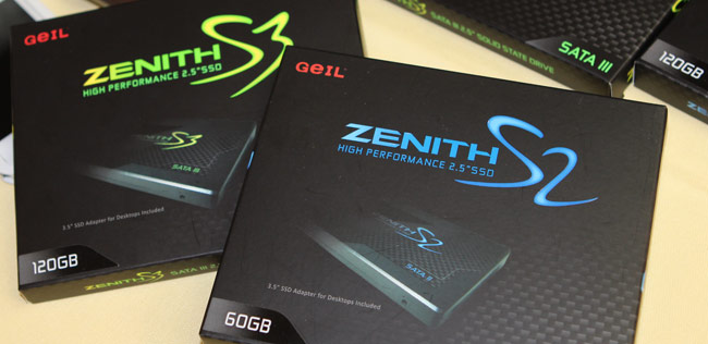 GeIL Zenith S2 og S3 SSD Diske
